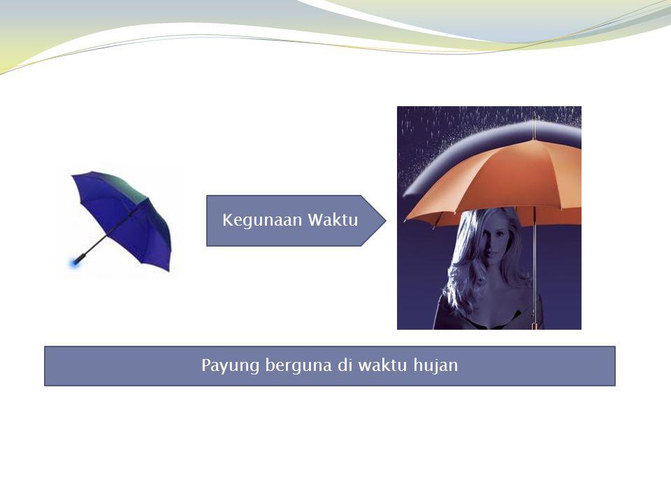 Kegunaan Waktu Payung berguna di waktu hujan