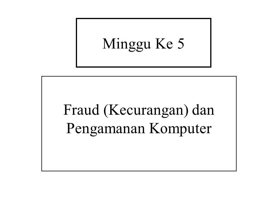 Minggu Ke 5 Fraud (Kecurangan) dan Pengamanan Komputer