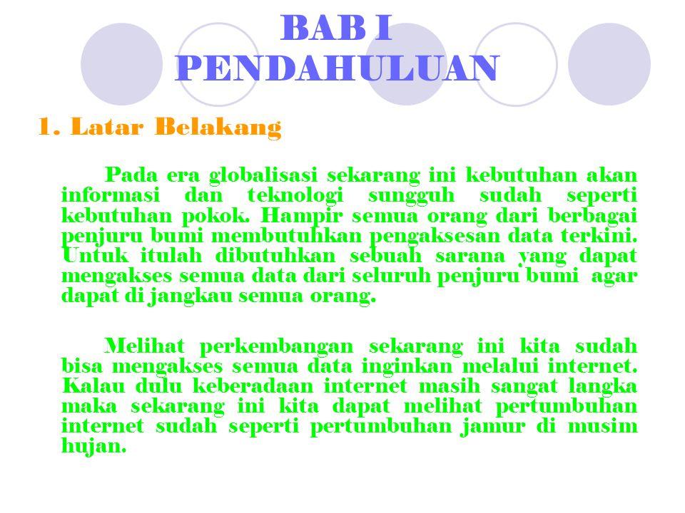 BAB I PENDAHULUAN 1.
