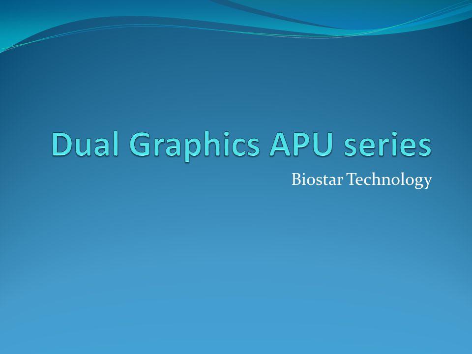 Dual graphics  Dual graphics atau sering disebut crossfire sebelumnya adalah tekhnologi yang dimiliki oleh AMD/ATI radeon untuk lebih meningkatkan kinerja graphicsnya.yaitu dengan cara menggabungkan dua buah kartu graphics menjadi satu output yang sama.