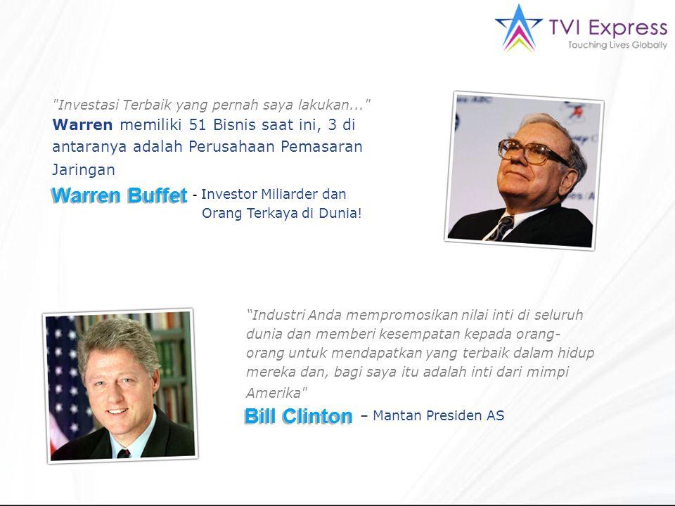 Investasi Terbaik yang pernah saya lakukan... Warren memiliki 51 Bisnis saat ini, 3 di antaranya adalah Perusahaan Pemasaran Jaringan Warren Buffet - Investor Miliarder dan Orang Terkaya di Dunia.