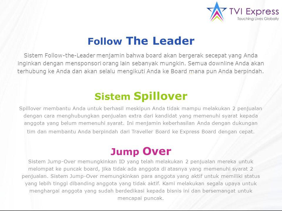 Sistem Follow-the-Leader menjamin bahwa board akan bergerak secepat yang Anda inginkan dengan mensponsori orang lain sebanyak mungkin.