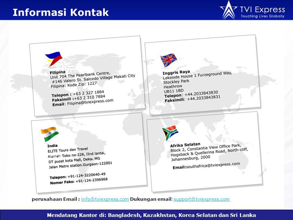 Informasi Kontak Mendatang Kantor di: Bangladesh, Kazakhstan, Korea Selatan dan Sri Lanka perusahaan Email : info@tviexpress.com Dukungan email : support@tviexpress.cominfo@tviexpress.com support@tviexpress.com