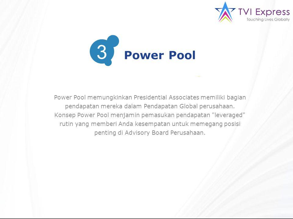 Power Pool memungkinkan Presidential Associates memiliki bagian pendapatan mereka dalam Pendapatan Global perusahaan.