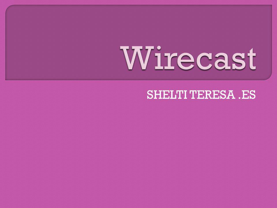 Wirecast adalah suatu software yang memungkinkan semua orang untuk dengan mudah menyiarkan acara live dan membuat webcast profesional dari lokasi manapun, semua yang Anda butuhkan adalah sebuah komputer dan koneksi internet.