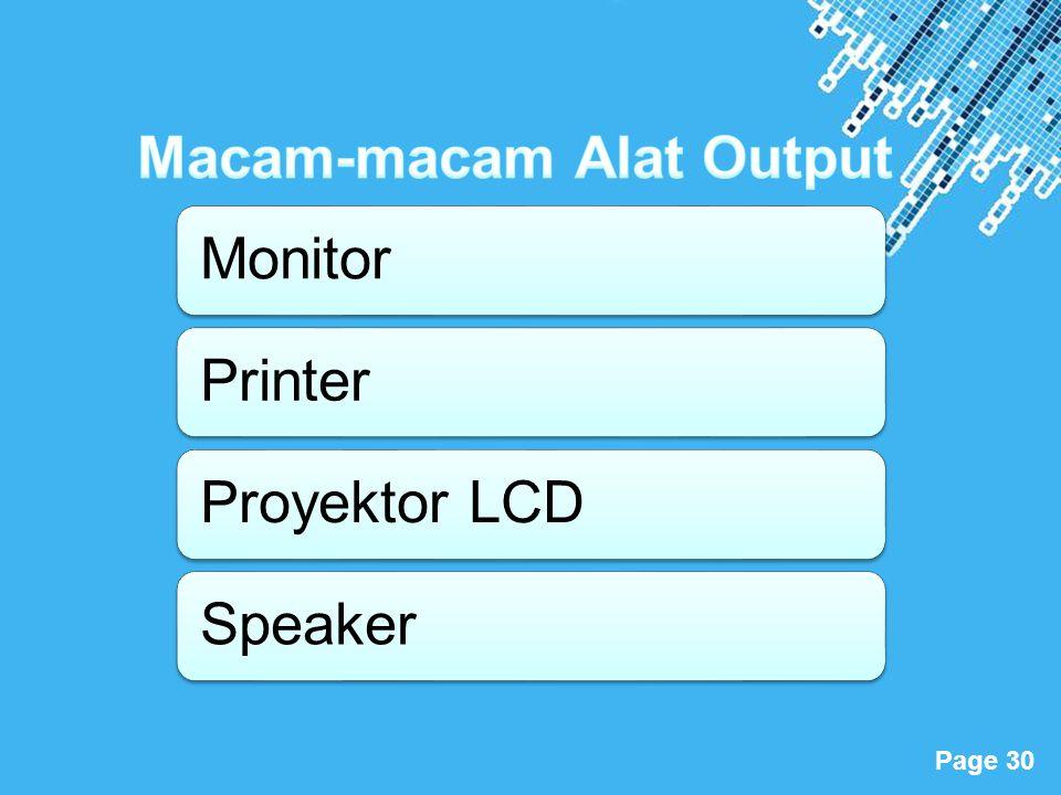 Powerpoint Templates Page 30 MonitorPrinterProyektor LCDSpeaker