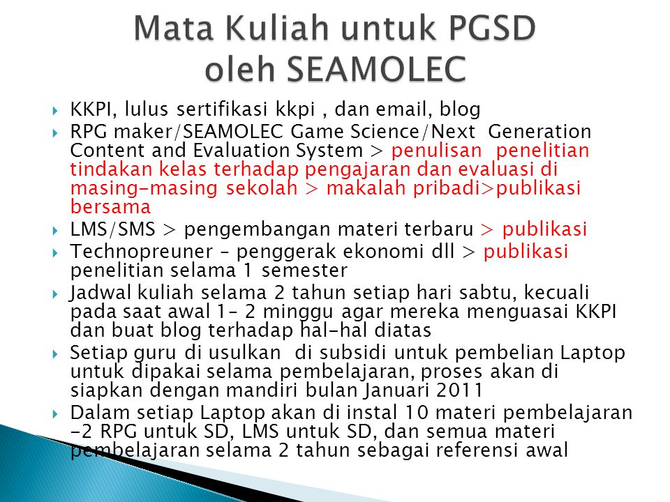  KKPI, lulus sertifikasi kkpi, dan email, blog  RPG maker/SEAMOLEC Game Science/Next Generation Content and Evaluation System > penulisan penelitian