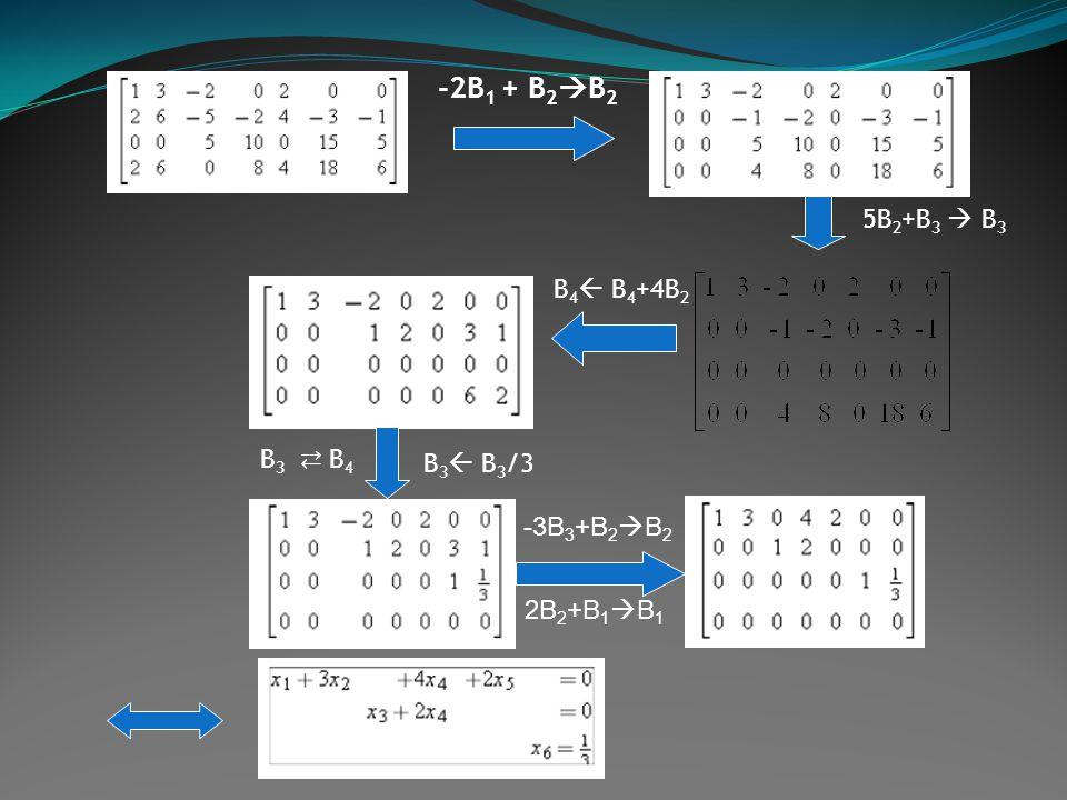 -2B 1 + B 2  B 2 5B 2 +B 3  B 3 B 4  B 4 +4B 2 B3 ⇄ B4B3 ⇄ B4 B 3  B 3 /3 -3B 3 +B 2  B 2 2B 2 +B 1  B 1