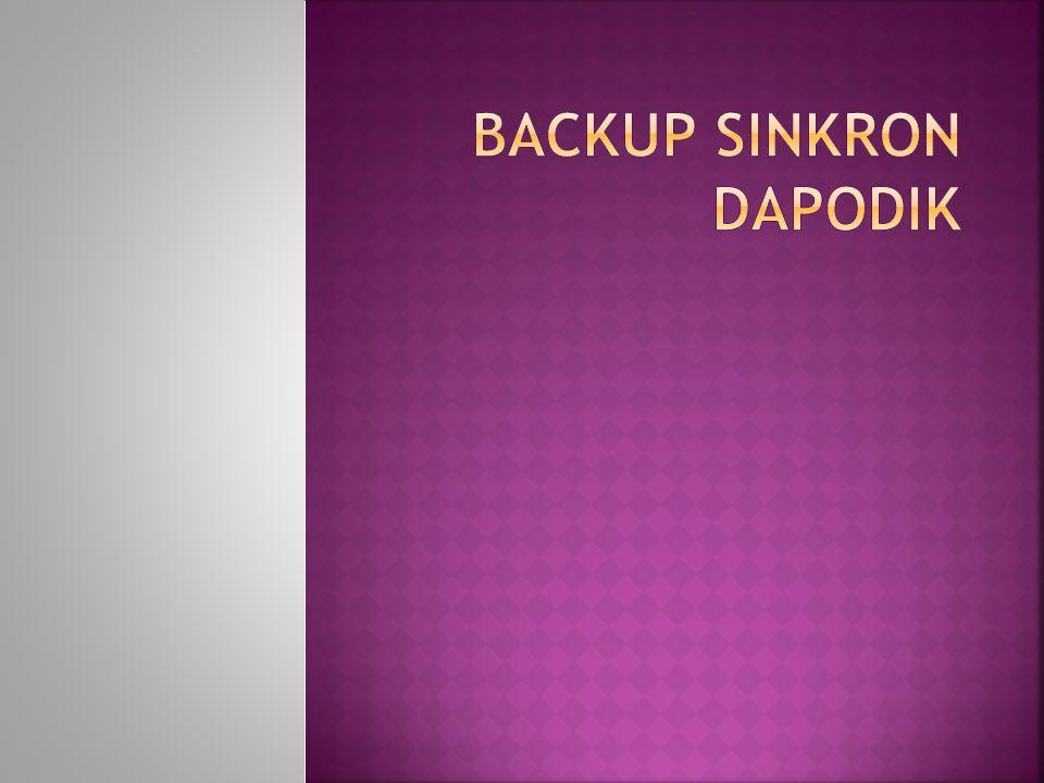  Fasilitas upload BackUp data dapodik sebagai alternatif bagi sekolah sekolah yang belum berhasil melakukan sinkronisasi ke Server Dapodik  BSD hanya mencakup data-data yang diperlukan P2TK Dikdas untuk mengelola calon nominasi penerima Tunjangan
