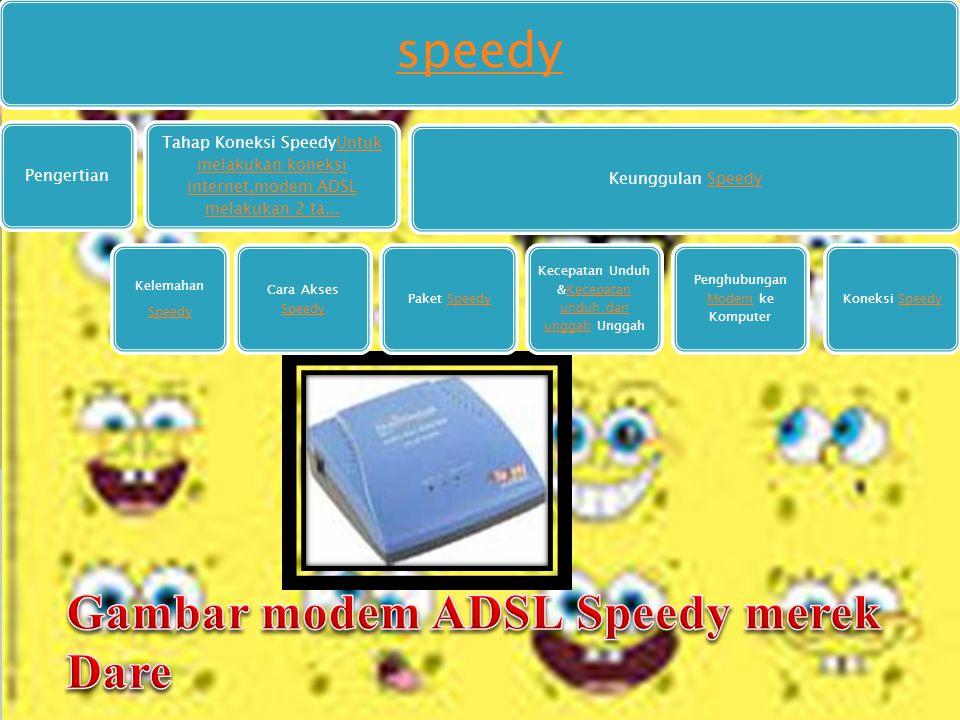 speedy Pengertian Tahap Koneksi SpeedyUntuk melakukan koneksi internet,modem ADSL melakukan 2 ta...Untuk melakukan koneksi internet,modem ADSL melakukan 2 ta...