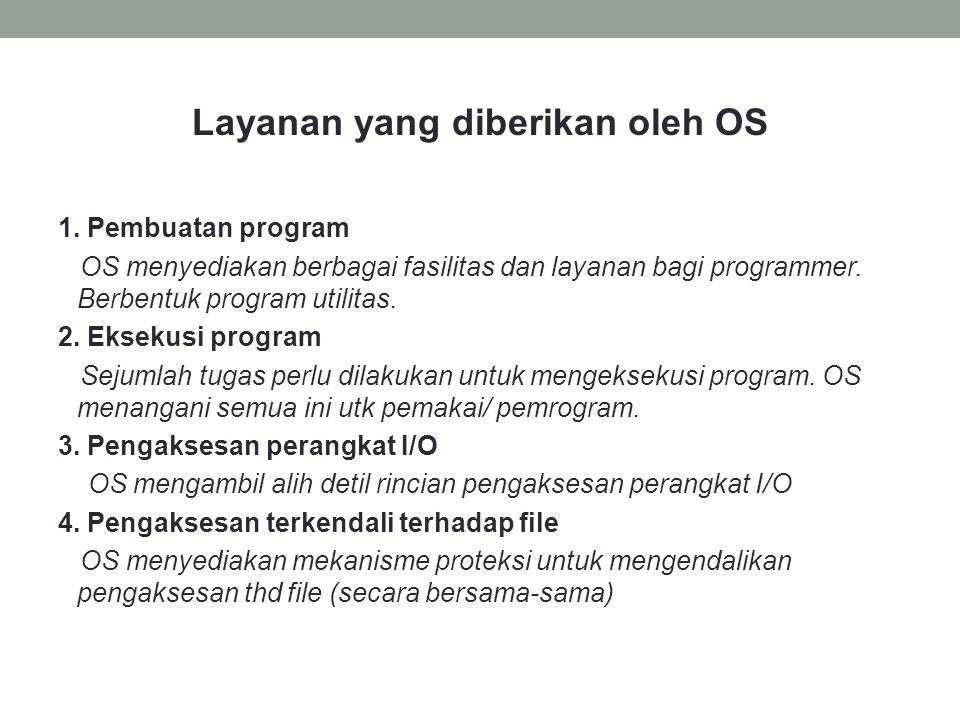 Layanan yang diberikan oleh OS 1.
