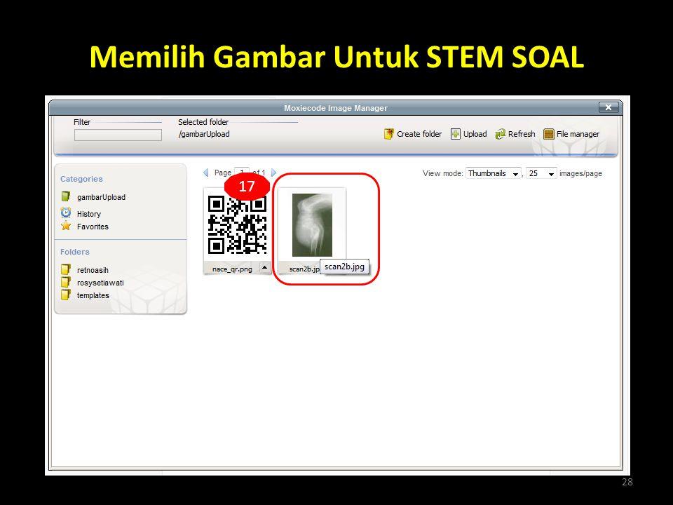Memilih Gambar Untuk STEM SOAL 28 17