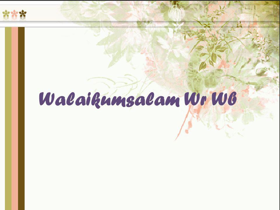 Walaikumsalam Wr Wb