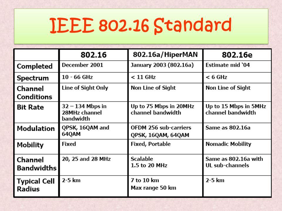 IEEE 802.16 Standard