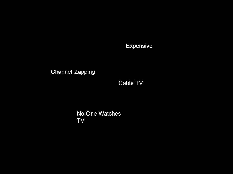 Expensive Channel Zapping No One Watches TV Cable TV