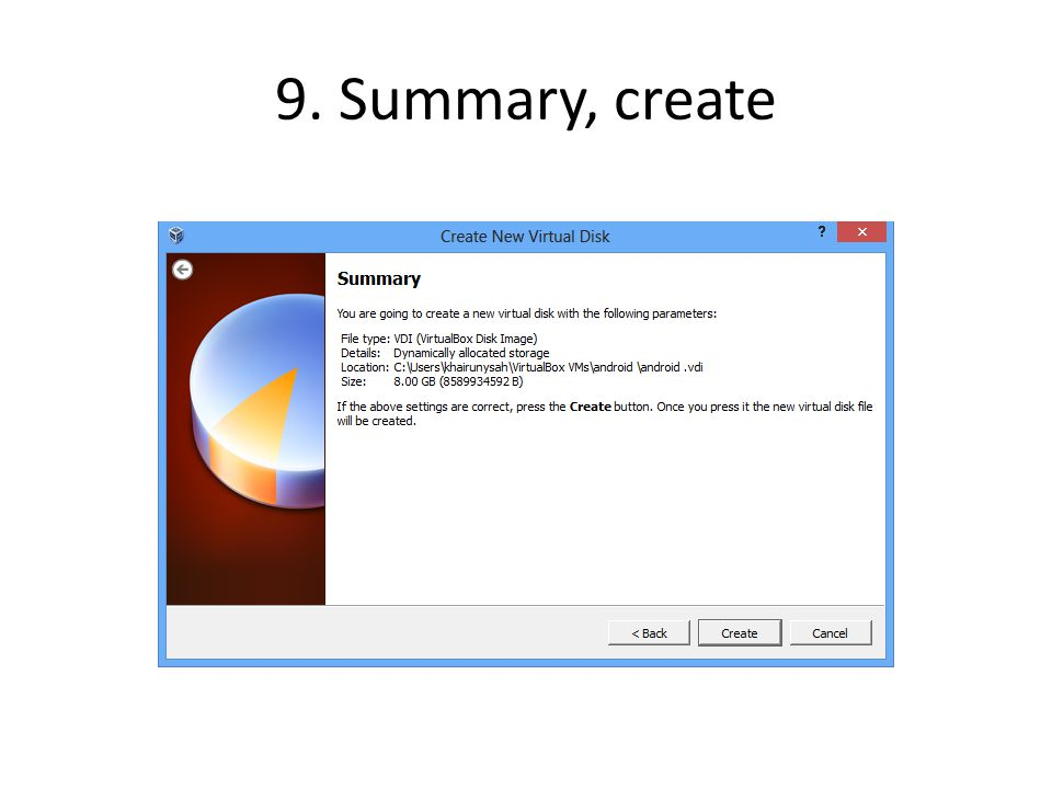9. Summary, create