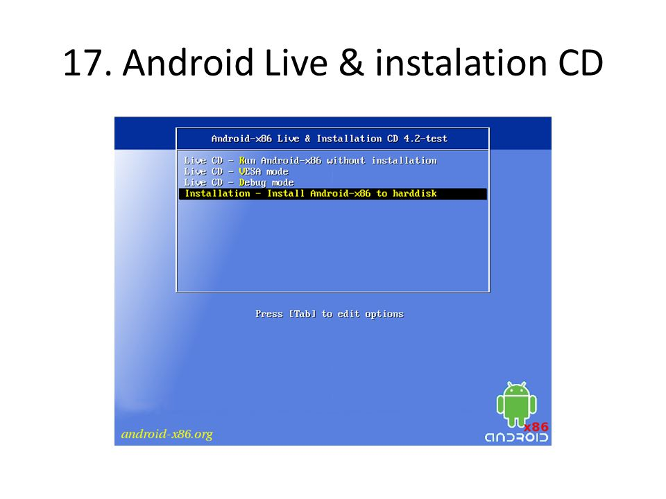 17. Android Live & instalation CD