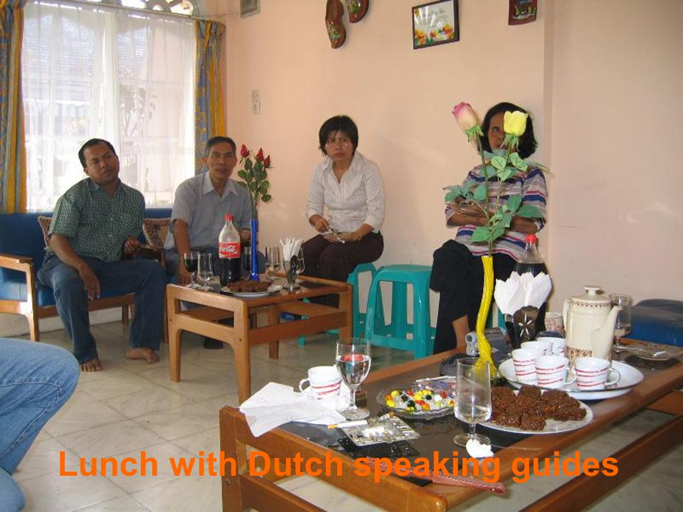 Lunch with Dutch speaking guides