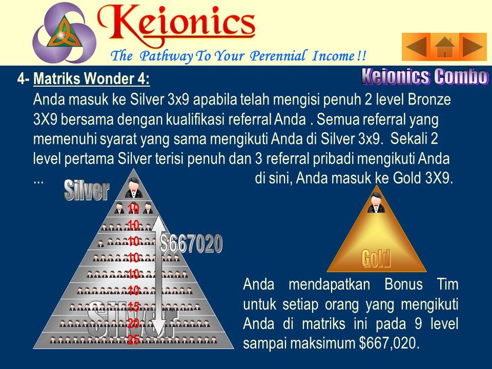 4- Matriks Wonder 4 :, Anda masuk ke Bronze 3x9 dengan membayar untuk Main atau Step.
