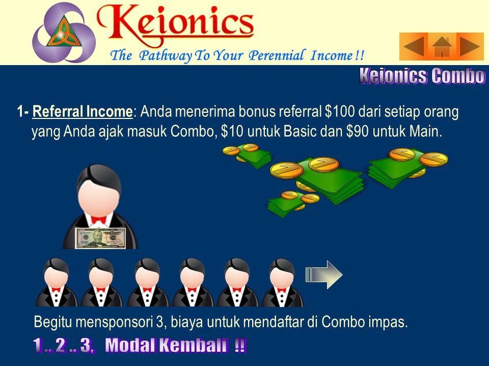 Marilah melihat berbagai Jalur Income Satu demi Satu Income langsung untuk Upaya Pribadi.