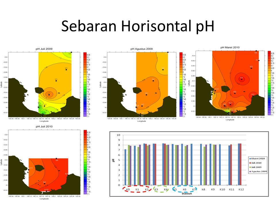 Sebaran Horisontal pH