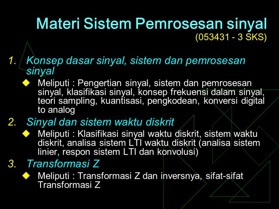 SISTEM PEMROSESAN SINYAL Fatkur Rohman, MT UMM Malang, 2007