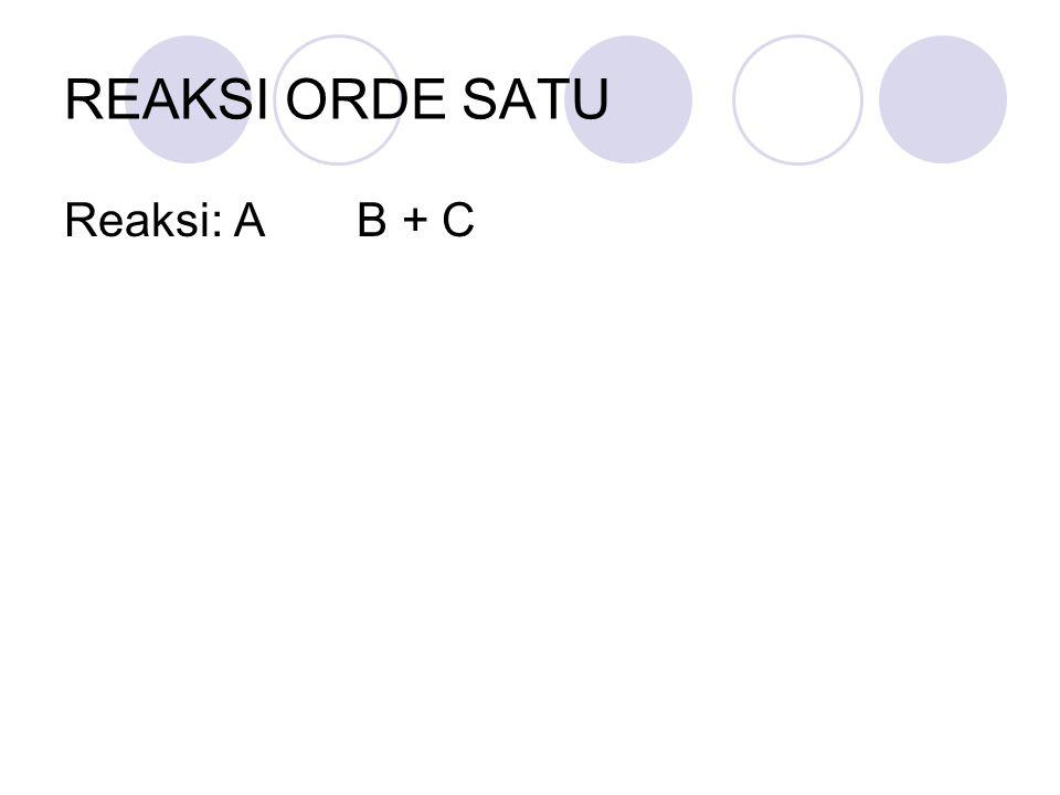 REAKSI ORDE SATU Reaksi: A B + C
