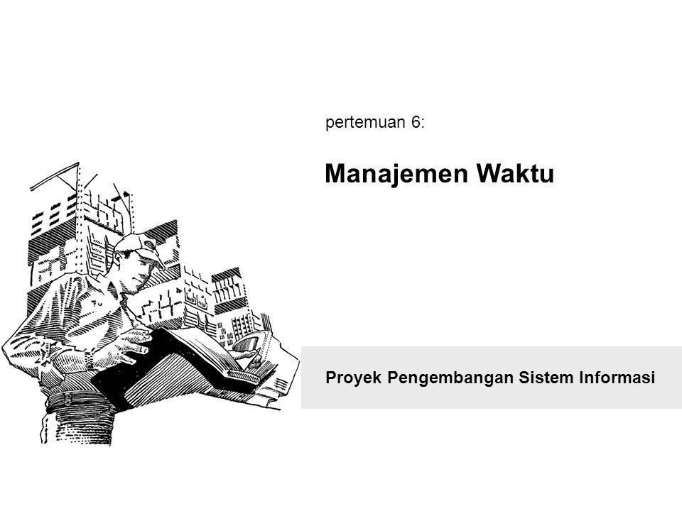 Proyek Pengembangan Sistem Informasi Manajemen Waktu pertemuan 6: