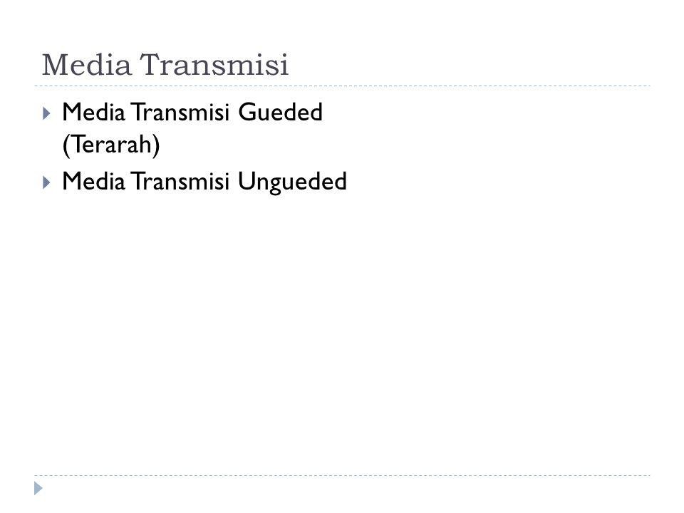 Media Transmisi  Media Transmisi Gueded (Terarah)  Media Transmisi Ungueded