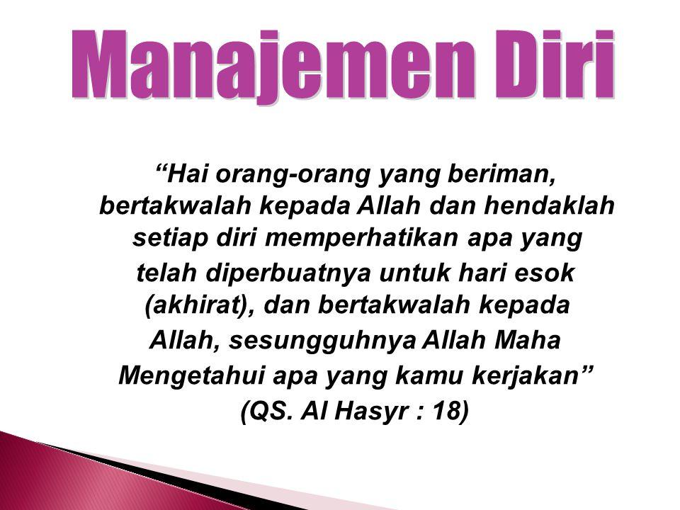 AktivitasManajemen Waktu dan Tarbiyah Jama'iyah KecerdasanSpritual Quotient PeranManager KebiasaanIndependence
