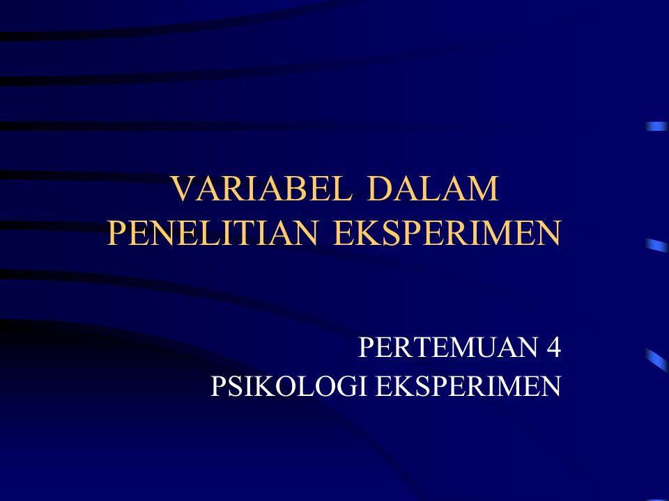 DEFINISI TEORITIS DEFINISI OPERASIONAL •Definisi Teoritis pada variabel tergantung dan variabel bebas mengacu pada pustaka •Definisi Operasional Variabel Bebas: –Bagaimana cara memanipulasi.