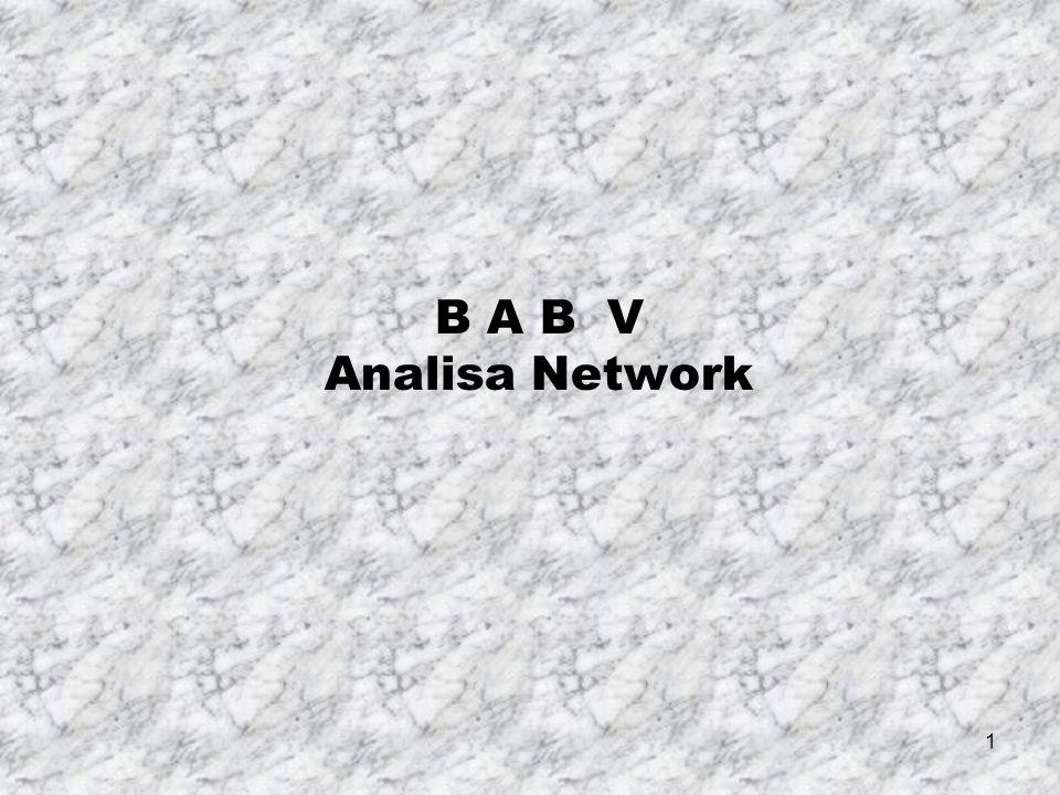 1 B A B V Analisa Network