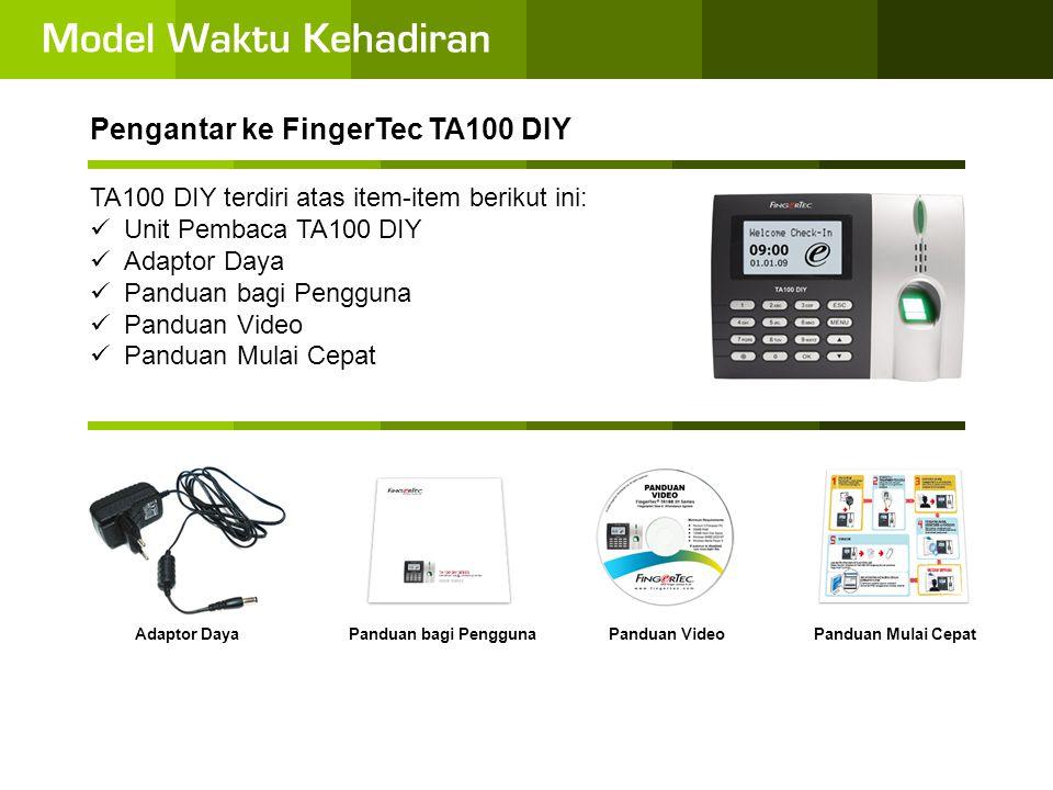 Pengantar ke FingerTec TA100 DIY Apakah TA100 DIY itu.
