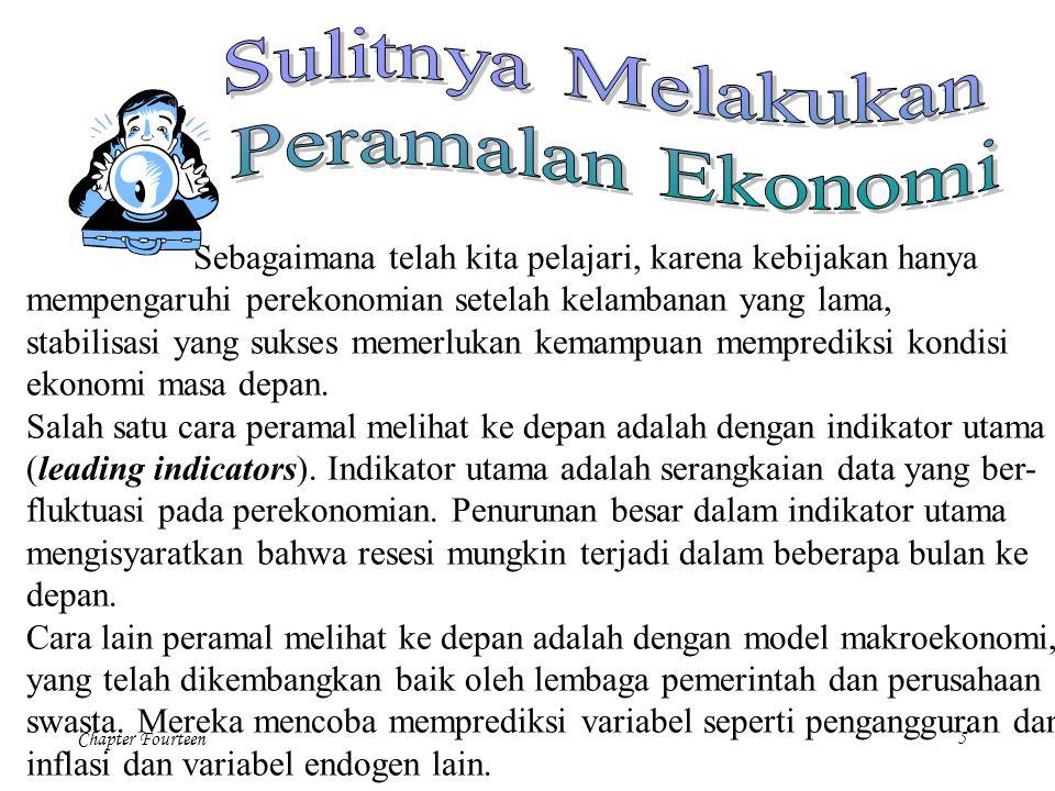 Chapter Fourteen5 Sebagaimana telah kita pelajari, karena kebijakan hanya mempengaruhi perekonomian setelah kelambanan yang lama, stabilisasi yang suk