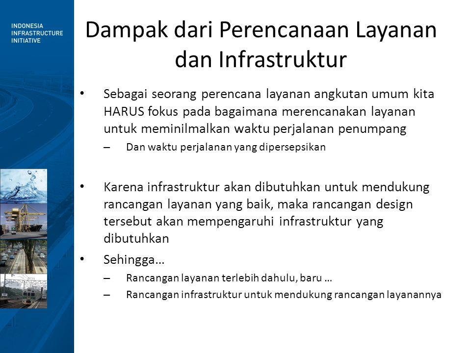 Dampak dari Perencanaan Layanan dan Infrastruktur • Sebagai seorang perencana layanan angkutan umum kita HARUS fokus pada bagaimana merencanakan layan