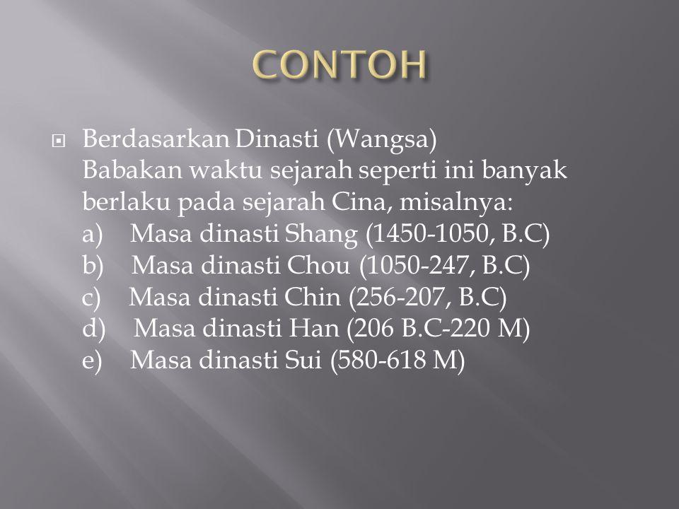  PERIODEISASI SEJARAH INDONESIA  Zaman praaksara  Zaman Hindu-Budha  Zaman kerajaan Islam  Zaman penjajahan Belanda  Zaman Kemerdekaan  Zaman Orde Lama  Zaman Orde Baru  Zaman Reformasi