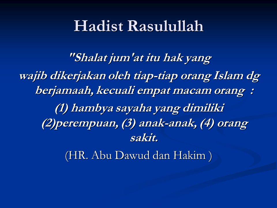 Hadist Rasulullah