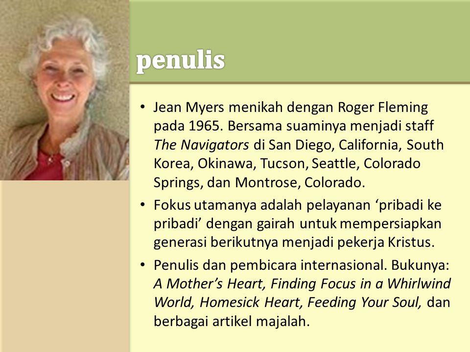 • Jean Myers menikah dengan Roger Fleming pada 1965.