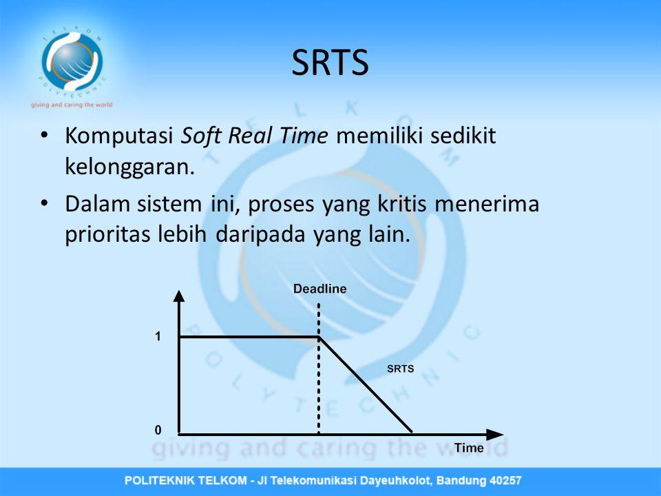 SRTS • Komputasi Soft Real Time memiliki sedikit kelonggaran.