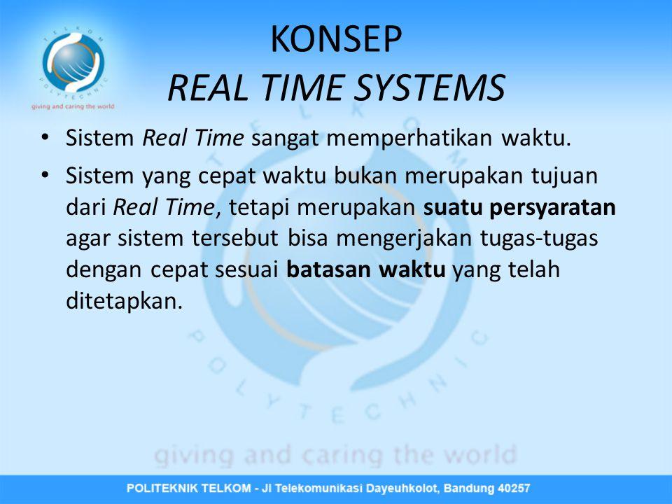 KONSEP REAL TIME SYSTEMS • Sistem Real Time sangat memperhatikan waktu.