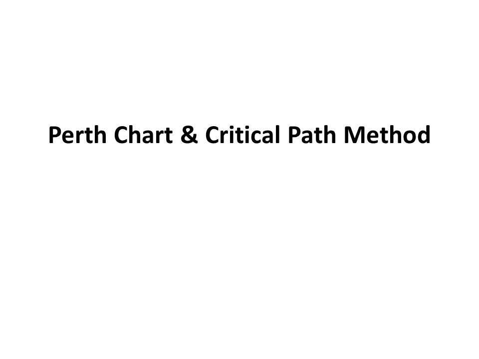 Perth Chart & Critical Path Method
