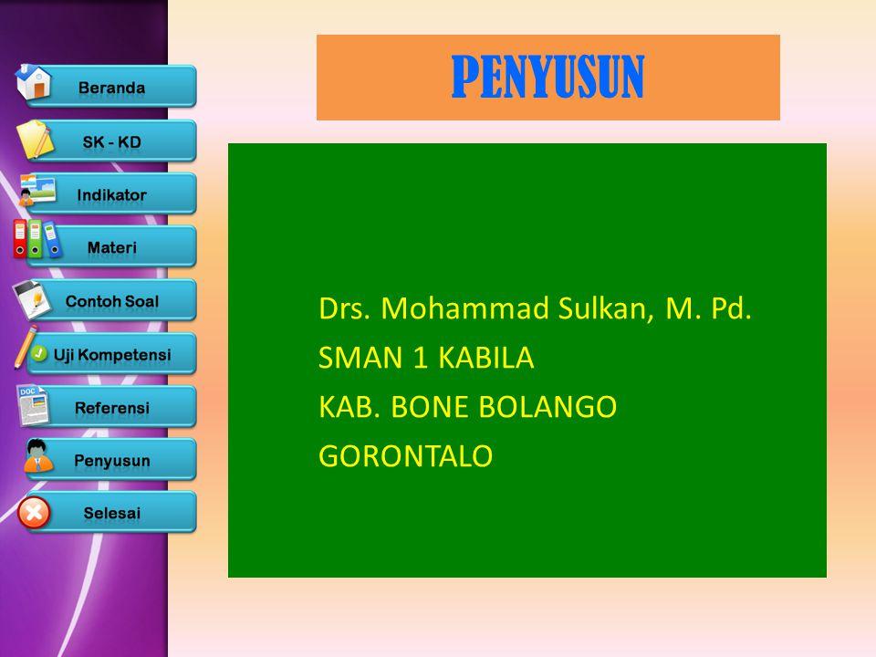 PENYUSUN Drs. Mohammad Sulkan, M. Pd. SMAN 1 KABILA KAB. BONE BOLANGO GORONTALO