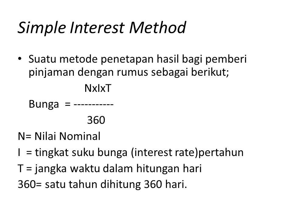 Contoh kasus • Bank MU menempatkan dananya sebesar Rp.