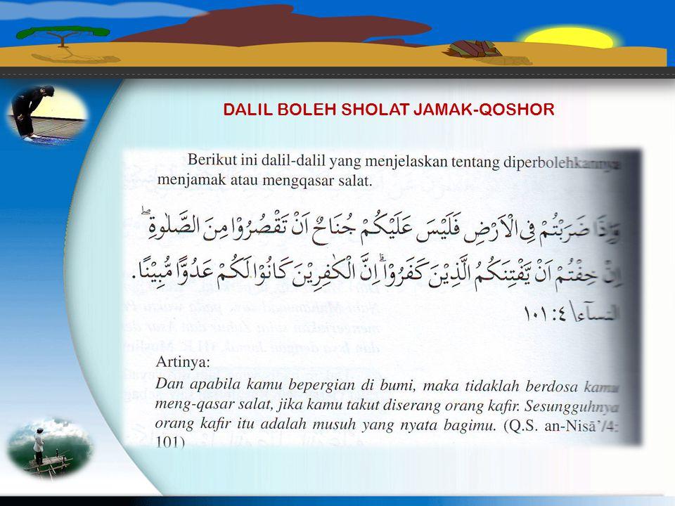 3. Sholat jamak Takhir. Esuk harinya (Minggu) Pada waktu Ashar P. Iwan melaksanakan sholat Dhuhur 4 rokaat dilanjutkan Sholat Ashar 4 rokaat. 4. Shola