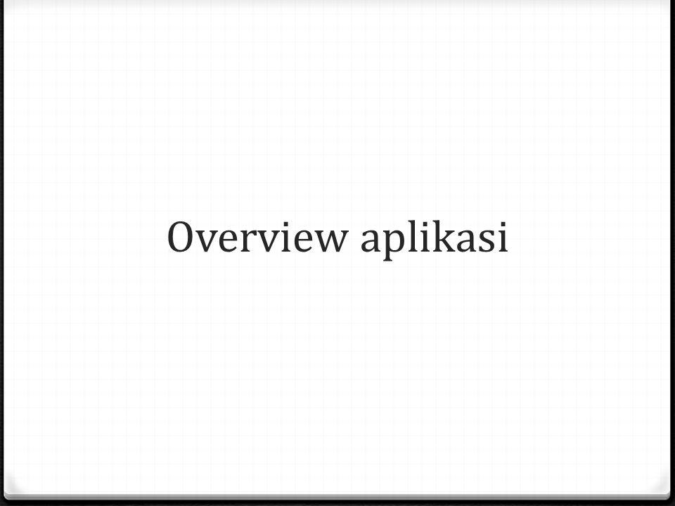 Overview aplikasi