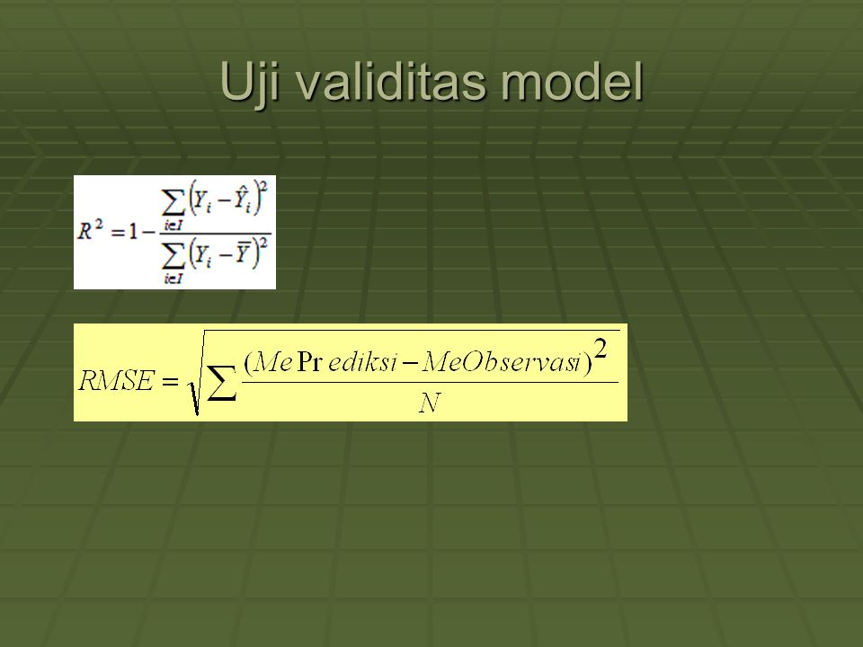 Uji validitas model