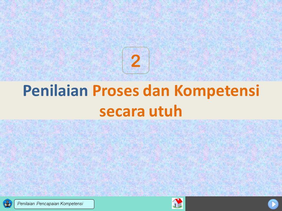 Sosialisasi KTSP Penilaian Proses dan Kompetensi secara utuh 2 Penilaian Pencapaian Kompetensi
