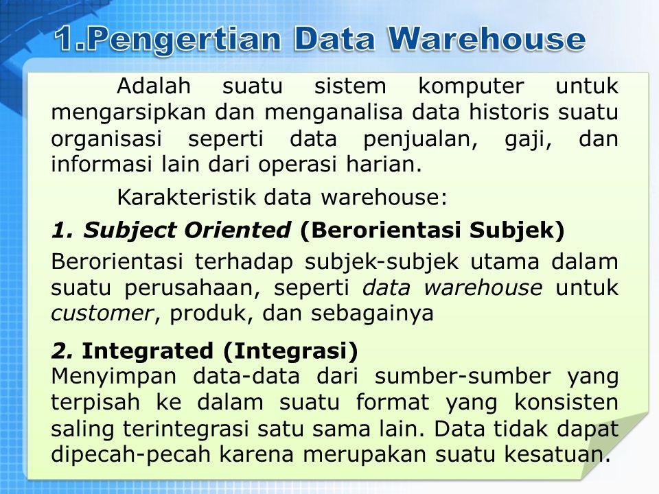 Adalah suatu sistem komputer untuk mengarsipkan dan menganalisa data historis suatu organisasi seperti data penjualan, gaji, dan informasi lain dari o