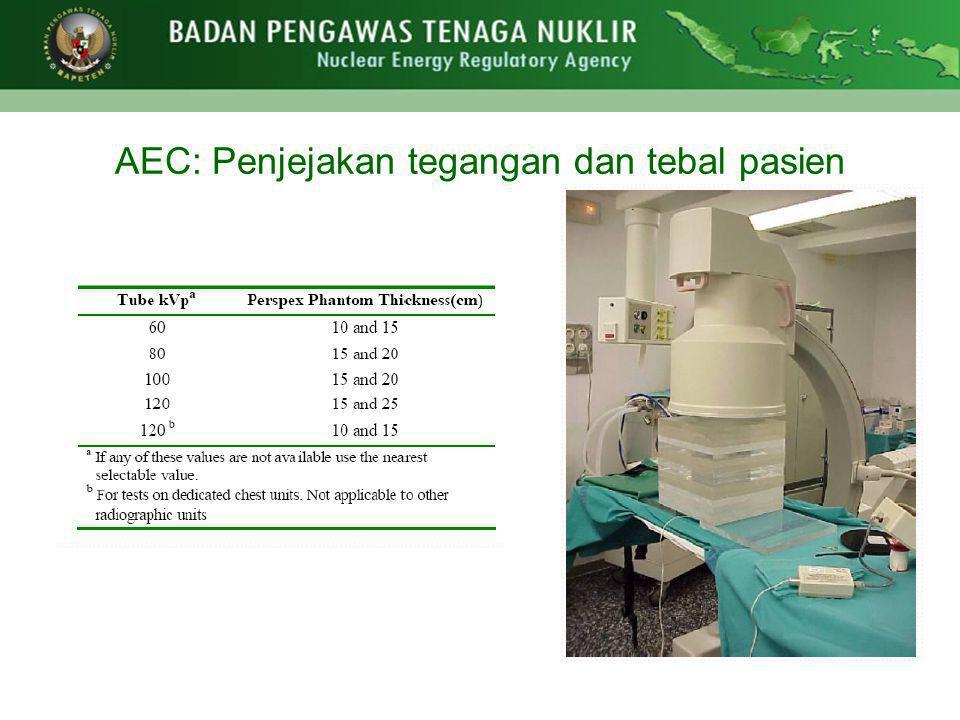 AEC: Penjejakan tegangan dan tebal pasien