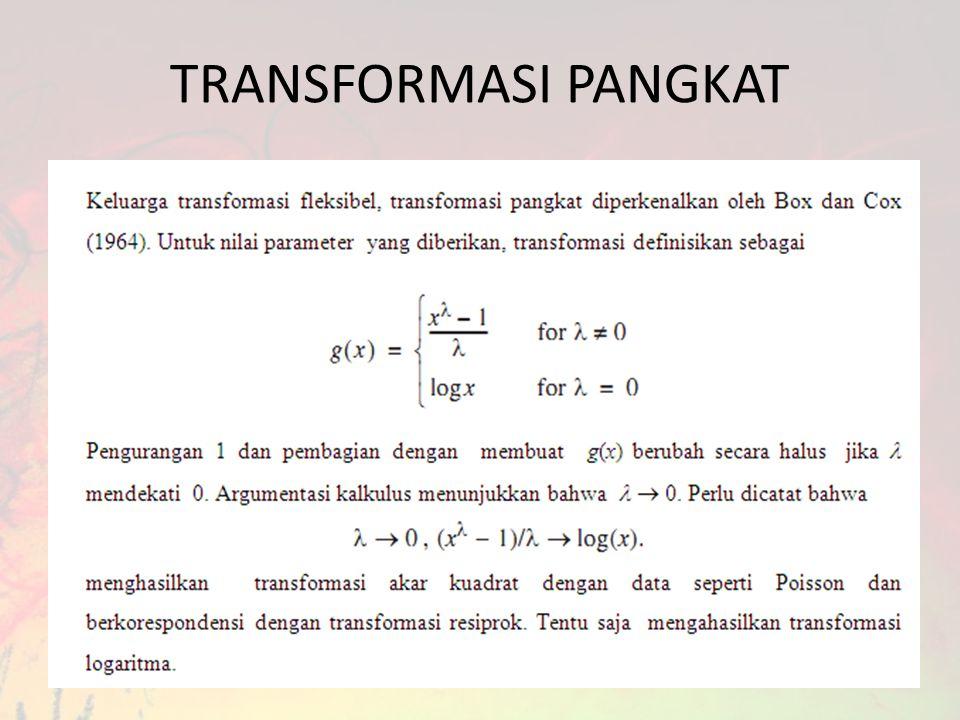 TRANSFORMASI PANGKAT